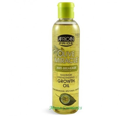African Pride Olive Miracle Maximum Strengthening Growth Oil