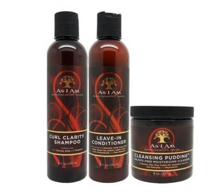 As I Am Curl Clarity Shampoo & Leave-in Conditioner & Twist Defining Cream 8oz Set