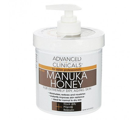 Advanced Clinicals Manuka Honey For Extremely Dry, Aging Skin (16 Oz)
