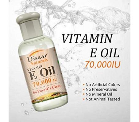 Disaar Naturals Vitamin E Oil - 70000 IU - 75ml