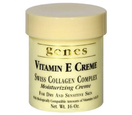 Genes Vitamin E Creme Swiss Collagen Complex Moisturizing Creme 16oz