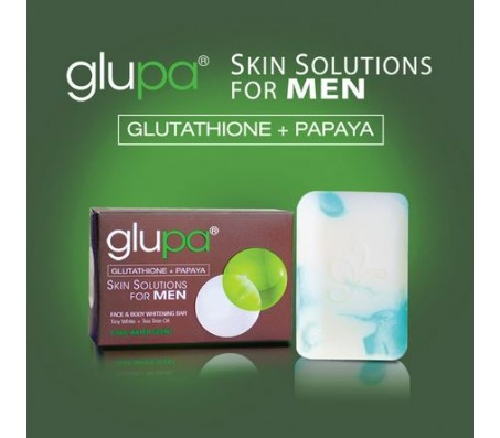 Glupa Glutathione + Papaya Face & Body Soap for Men - 135g