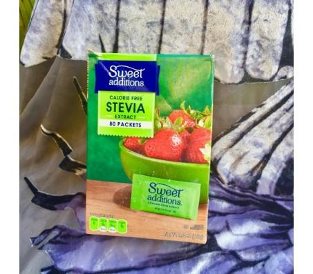 Sweet Additions Calories Free Stevia Sweetener 80 Packs
