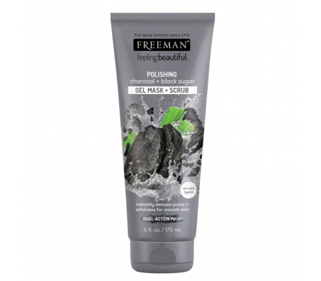Freeman Polishing Charcoal Gel Mask Plus Scrub