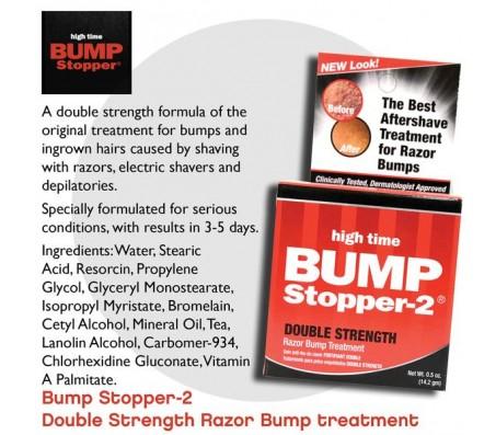 High Time Bump Stopper-2 Razor Bump Treatment, Double Strength Formula - .5 Oz
