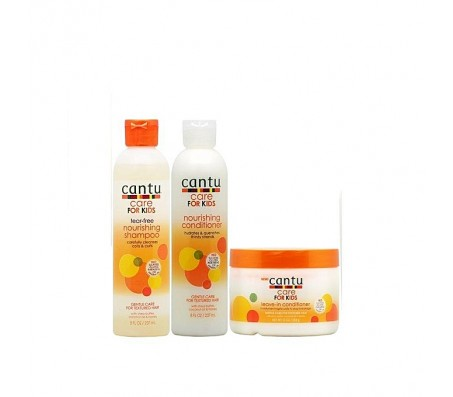 Cantu Care For Kids Shampoo + Conditioner + Leave-in Conditioner