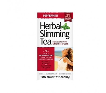 21st Century Herbal Slimming Tea - Peppermint - 24 Tea Bags