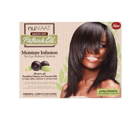 NuNAAT Braziliam Pataua Oil Moisture Infusion No-Lye Relaxer System