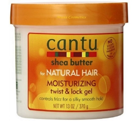 CANTU SHEA BUTTER FOR NATURAL HAIR MOISTURISING TWIST & LOCK GEL FRIZZ CONTROL
