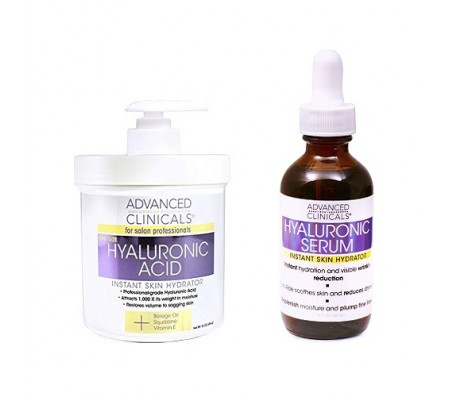 Advanced Clinicals Hyaluronic Acid Instant Skin Hydrator (454g) + Serum (52ml)