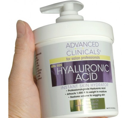 Advanced Clinicals Hyaluronic Acid Instant Skin Hydrator Cream 454g