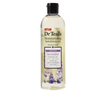 Dr Teals Lavender Body And Bath Essential Oil - 2 Bottles (260ml each)
