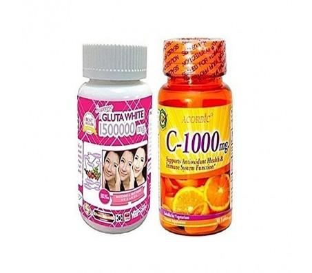 Supreme White Glutathione Pills 1500000mg & Acorbic Vitamin C - 1000mg