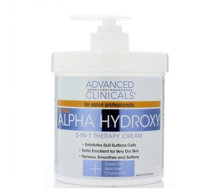 Advanced Clinicals Alpha Hydroxy 5in1 Therapy Cream 454g