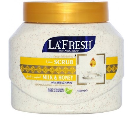 La Fresh Milk Exfoliating Face & Body Scrub 500ml