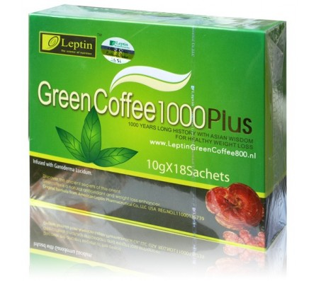 Leptin Green Coffee 1000 Plus 10gx18 Sachets