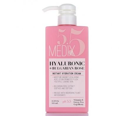 Medix 5.5 Hyaluronic Acid + Bulgarian Rose Instant Hydration Cream 444ml