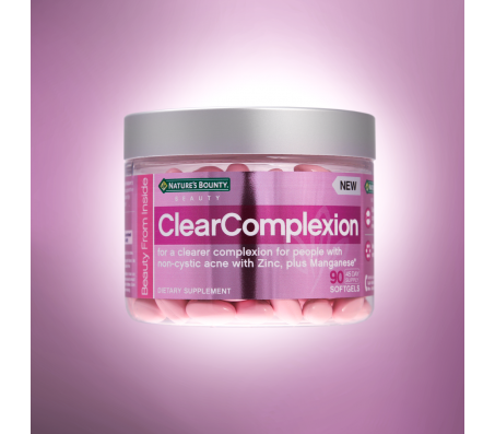 Nature Bounty Clear Complexion Dietary Supplement 90 Softgels