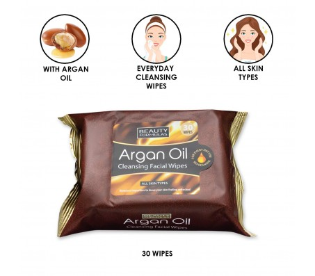 Beauty Formula Argan Oil Facial Cleansing Wipes