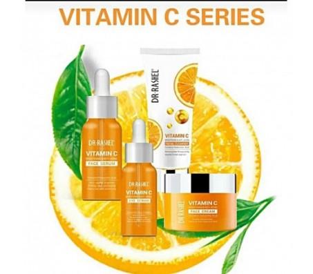 Dr Rashel Vitamin C Brightening Combo - Face Cleanser, Eye Serum, Face Cream & Face Serum