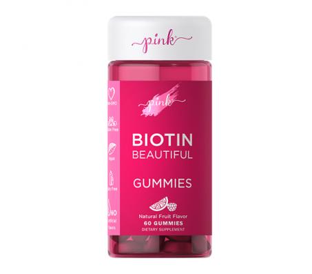 Pink Biotin Beautiful Gummies - 60 Gummies