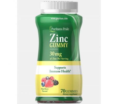 Puritan's Pride Zinc Gummy 30 mg - 70 Gummies