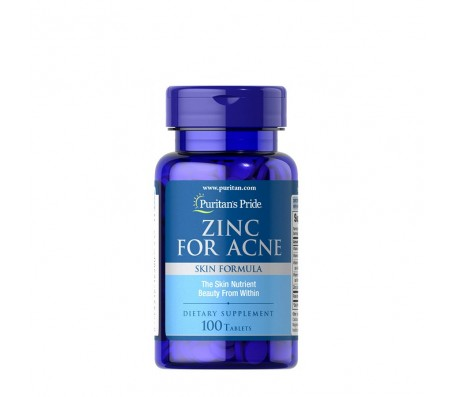 Puritan's Pride Zinc for Acne Supplement - 100 Tablets