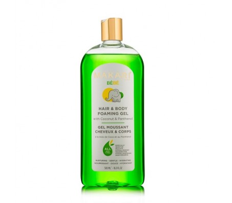 Makari Bebe Hair & Body Foaming Gel - 500ml