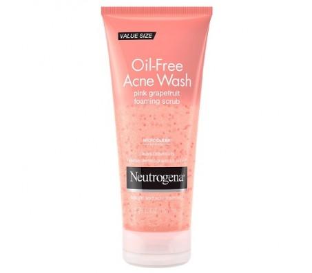 Neutrogena Oil-Free Acne Face Wash Pink Grapefruit Foaming Scrub 198ml