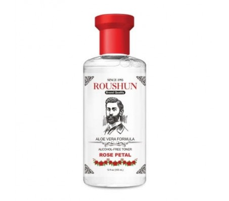 Roushun Alcohol-Free Aloe Vera Formula Rose Petal 355ml