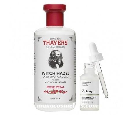 Thayers Witch Hazel Toner & The Ordinary Niacinamide