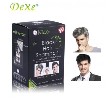 Dexe Black Hair Dye & Shampoo - 10 Pieces
