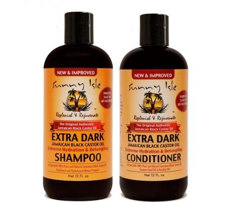 Sunny Isle Extra Dark Jamaican Black Castor Oil Shampoo And Conditioner