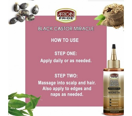 African Pride Black Castor Miracle Hair & Scalp Sealing Oil 177ml
