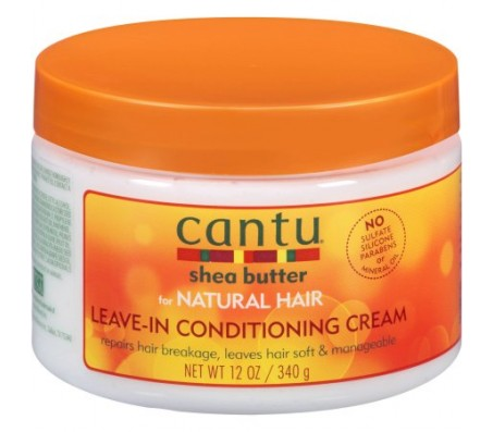 Cantu Shea Butter For Natural Hair Leave In Conditioning Repair Cream -12 Fl Oz/340g
