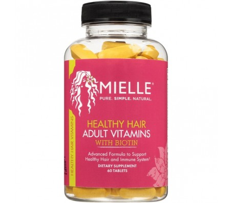 Mielle Organics Healthy Hair Adult Vitamins - 60 Tablets
