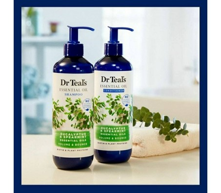Dr Teals Eucalyptus & Spearmint Essential Oil Shampoo & Conditioner - 473ml Each