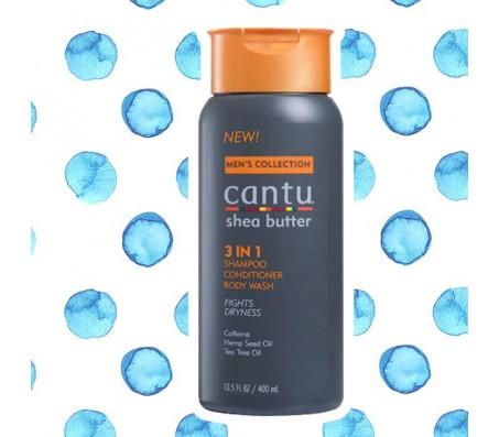 Cantu Shea Butter 3 in 1 Shampoo Conditioner Body Wash 400ml