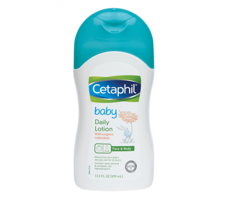 Cetaphil Baby Daily Lotion With Organic Calendula, Sweet Almond Oil & Sunflower Oil 13.5oz