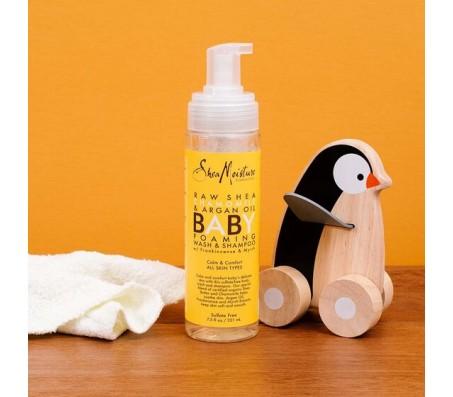 Shea Moisture Raw Shea Chamomile & Argan Oil Baby Foaming Wash & Shampoo 222ml