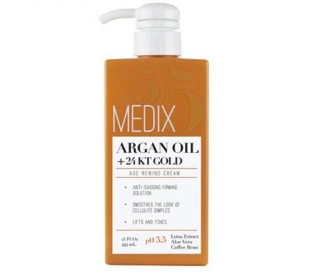 Medix 55 Argan Oil + 24KT Gold Age Rewind Cream 444ml
