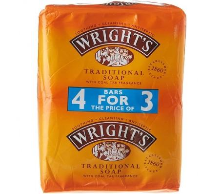 Wright's Traditional Soap - 4 Bars (125g per Bar)