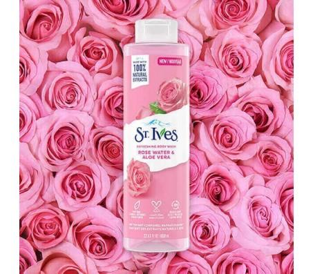 St Ives Rose Water & Aloe Vera Refreshing Body Wash - 650ml