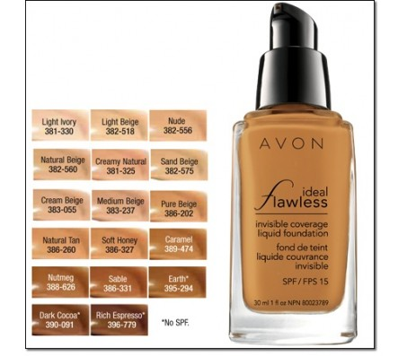 Avon Ideal Flawless Invisible Coverage Liquid Foundation - (30ml)