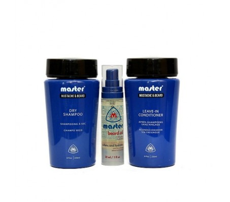 Master Well Mustache & Beard Shampoo(236ml), Leave-In Conditioner(236ml) & Oil(30ml)