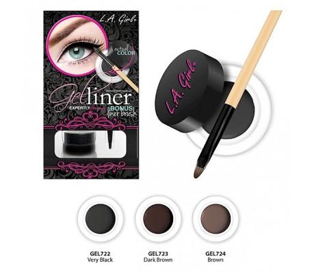 LA Girl Gel Liner Kit - Very Black(722)