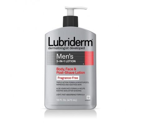 Lubriderm Men's 3-In-1 Fragrance-Free Lotion, 16 Fl. Oz.