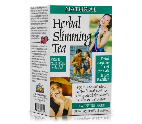 21st Century Herbal Slimming Tea, Natural - 24 Tea Bags - 45g