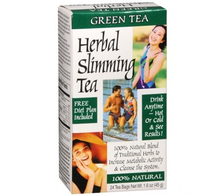 21st Century Herbal Slimming Tea Green Tea, 24 Tea Bags