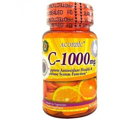 Acorbic C-1000mg Vitamin C Supplement - 30 Capsules